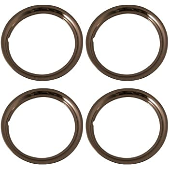 """15/"""" INCH BEAUTY TRIM RINGS 2/"""" STAINLESS STEEL SET OF 4 DEEP LARGE 15X6 15X7 15X8"""