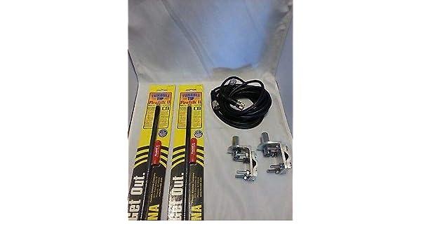 BRACKETS 12FT DUAL COAX 2 FIRESTIK 2 FS2 BLACK STUDS FS2B 2FT CB ANTENNAS
