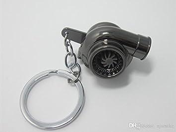 Elegante llavero negro y plateado de turbina del turbo del coche presentada en caja de regalo: Amazon.es: Coche y moto