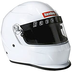 RaceQuip 273115 Gloss White Large PRO15 Full Face Helmet (Snell SA-2015 Rated)