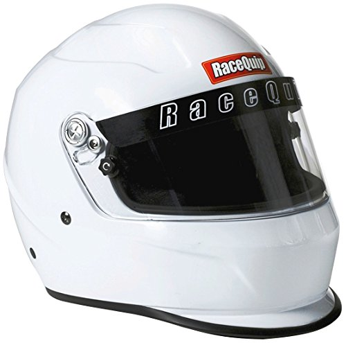RaceQuip 273113 Gloss White Medium PRO15 Full Face Helmet (Snell SA-2015 Rated)