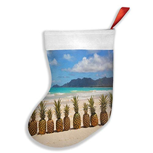 (Christmas Stockings A Row of Lovely Pineapples by The Sea Vintage Socks Clearance )
