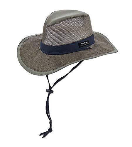 Panama Jack Hat - Mesh Safari Hat, Big Brimmed, Supplex, Sun Hat (Large, Fossil) ()