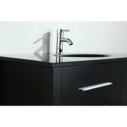 hot sale Bosconi SB-250-6GRCM 43 inch Standard single Vanity with An Oval Under Mount Sink, Cabinet, Countertop, 2 Drawers, Lower Rack, & A Mirror, Gray/Carrara Marble
