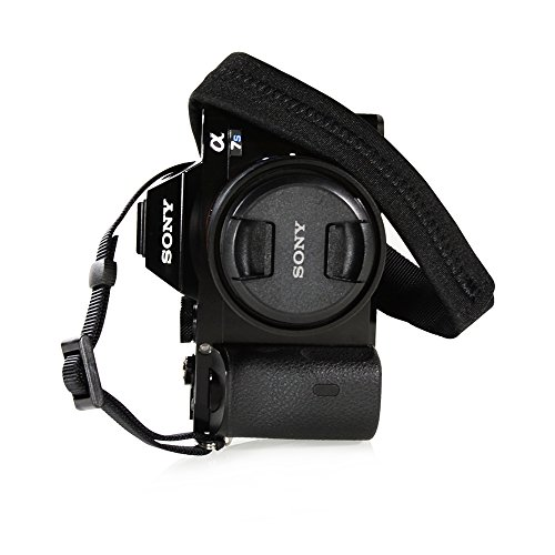 (Foto&Tech Padded Neck Shoulder Strap with Black Grosgrain Ties Compatible with Fujifilm Samsung Sony Olympus Panasonic Canon Nikon Pentax Compact Cameras Point and Shoots Cameras )