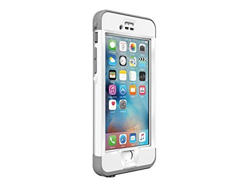 Lifeproof NÜÜD SERIES iPhone 6s Plus ONLY Waterproof Case - Retail Packaging - AVALANCHE (BRIGHT WHITE/COOL GREY) (Iphone Cases Lifeproof Plus 6)