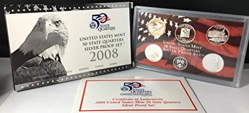 2008 S US Mint Quarters Silver Proof Set OGP
