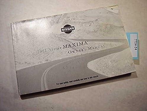 2001 nissan maxima owners manual nissan amazon com books rh amazon com 2001 Nissan Maxima GXE 2001 Nissan Maxima Manual Transmission'
