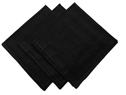ent Checkered Cotton Hankie Hankerchiefs gift set ((B)14.99(3PCS)) (Arizona Embroidered Long Sleeve)