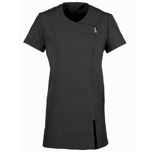 Premier Ladies/WomensCamellia Tunic / Health Beauty & Spa / Workwear (10 US) (Black) - Stitch Detail Tunic