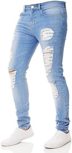 ダメージ ジーンズ メンズ スウェットデニム カジュアル 人気 ストレッチ 細身 ズボン ロングパンツ 高級 実用 ビンテージ アメカジ サーフ系 ビター系 ブーツカート スキニーアンクル