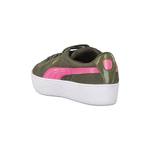 Puma Vikky Platform, Zapatillas para Mujer Verde (Olive Night-rapture Rose)