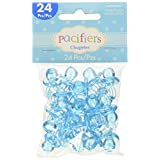 """Amscan Delightful Pacifier Baby Shower Party Charm Decors/Favors, 1 x 1/2"""", Baby Blue"""