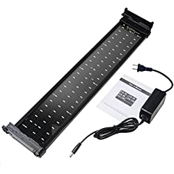 Mingdak® LED Aquarium Light Fixture for Fish Tanks,suitable for Saltwater and Freshwater,72 Leds,20-inch,lighting Color White and Blue