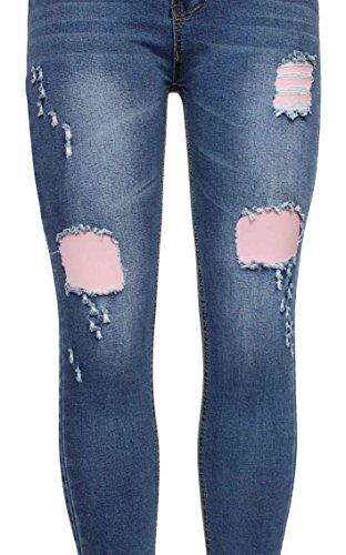Femme Jeans Skinny Barfly Motif Fashion 8 wCSnY0q