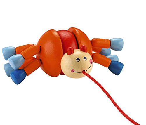 HABA Webby Walker Wooden Pulling Animal with 8 Legs of Wobbling Fun Classic Pull Toy ()