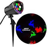 Gemmy Lightshow Multi Color LED Projection Light Christmas Holiday Light (Multi-Color Merry Christmas, Reindeer and Sleigh)