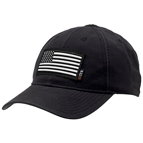 5.11 Flag Bearer Cap Bundle Black (USA Patch + Hat)