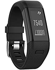 Yikamosi Compatible With Garmin Vivosmart HR+ Band,Newest Soft Silicone Sport Replacement Strap for Garmin Vivosmart HR+(NO Vivosmart HR,Black)
