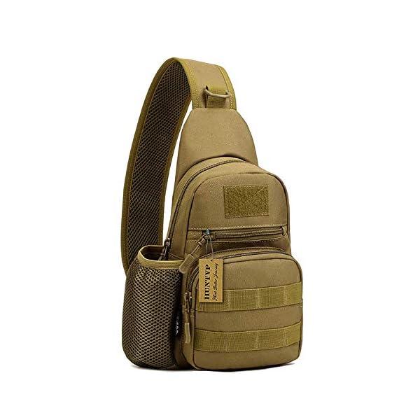41pJ0tJtQuL HUNTVP Taktisch Brusttasche Military Schultertasche mit Wasserflasche Halter Chest Sling Pack Molle Armee Crossbody Bag…