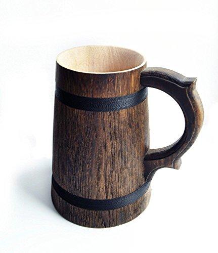 Handmade Wooden Rustic Beer  Mug Real Oak Eco-Friendly