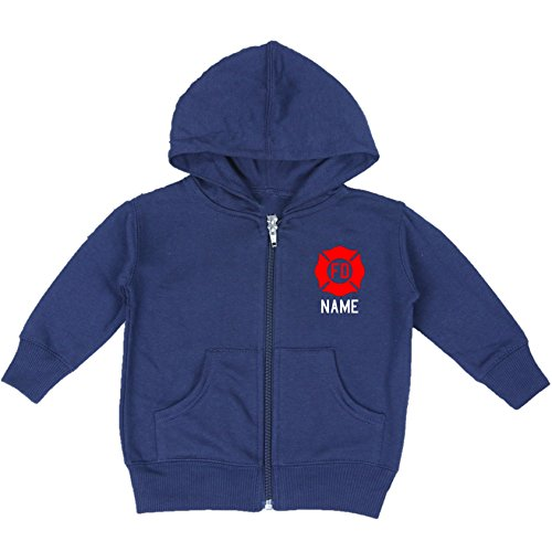 Fully Involved Stitching Personalized Firefighter Baby Hoodie (12 Months)