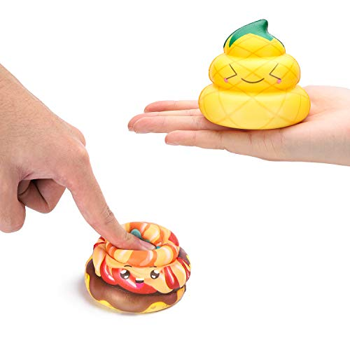 WATINC Random 12 Pcs Kawaii Soft Poo Squishy Cream Scented Stress Relif Toy, Decorative Props Gift Hand Toy for Kids by WATINC (Image #2)