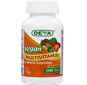 Deva Vegan Vitamins Daily Multivitamin & Mineral Supplement 90 tablets