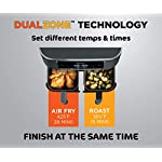 Ninja DZ201 Air Fryer Foodi 6-in-1 8 Quart DualZone Technology, with 2 Crisper Plates 2 Independent Baskets, for Quick…