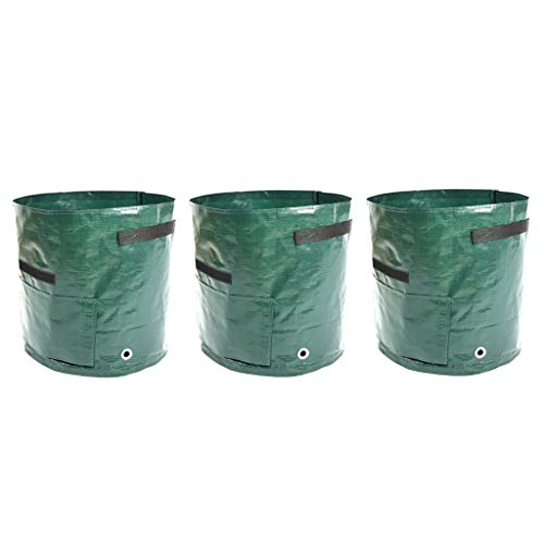 DIY Potato Grow Planter PE Cloth 3Pcs Planting Container Bag Thicken Garden Pot Mallcas Growing Bag Gardening Bag ()