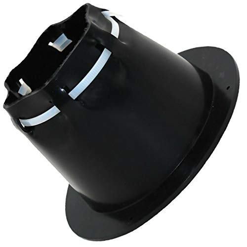 (FidgetKute 4.5 INCH Cable Boot with Cable Tie TH Marine CB-4 Black)