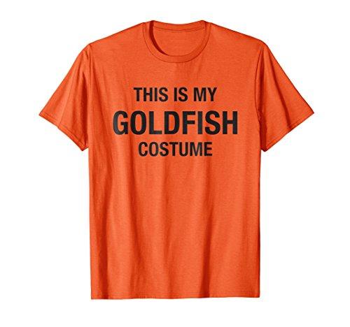 Halloween My Goldfish Costume Orange Shirt -
