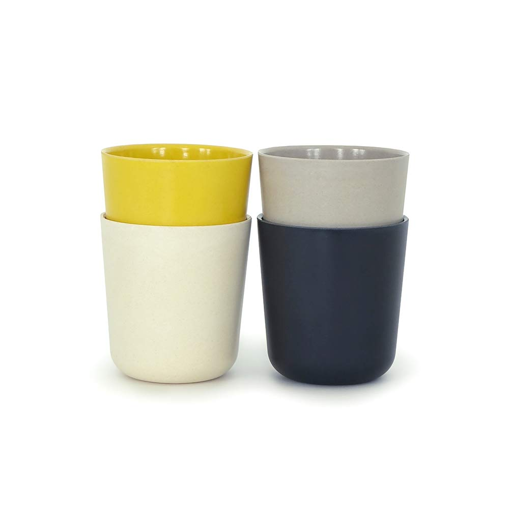BIOBU by EKOBO 34680 Gusto mittelgr. Mug Set 1-Black/stone / White/lemon B00V6GFM5A Black/Stone/White/Lemon M