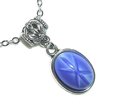 BLUE STAR SAPPHIRE Czech Glass Silver Pltd