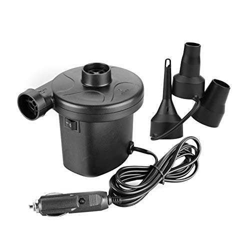 Walfront Auto Car 12V Electric Air Pump Inflator Deflator for Boat Bed Mattress