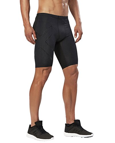 2XU Men's Elite MCS Compression Shorts, Black/Nero, (Elite Athletic Shorts)