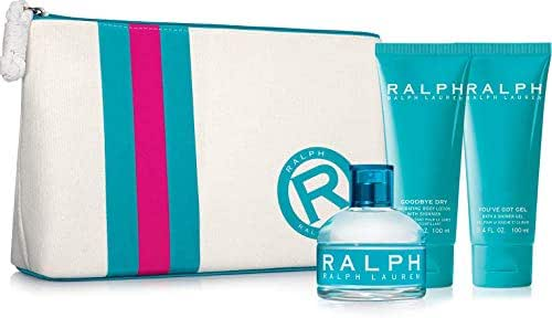 Ralph Lauren- Ralph 4 PC SET for women(3.4 Eau De Toilet Spr + 3.4 Shimmering Body lotion + 3.4 Bath & shower Gel + Cosmetic Bag)