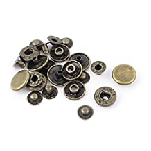 Metal Sewing Poppers Snap Fasteners Press Stud Button 15mm Dia 6 Sets