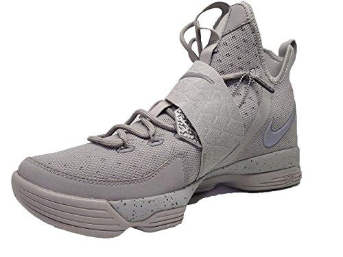 NIKE Lebron XIV Herren Basketball Schuhe 852405 Silber / Reflekt Silber