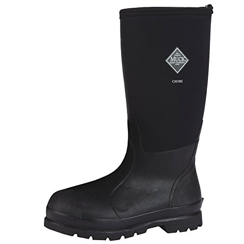 Muck Boots Chore Hi Waterproof Adult Unisex Boots CHH-000A Black 10 M US by Muck Boot