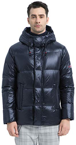 ICEbear Mens Down Coat Casual Packable Lightweight Winter Puffer Jacket with Hood