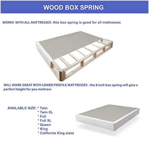 Greaton Fully Assembled Box Spring/Foundation for Mattress, Twin Size, 38×74