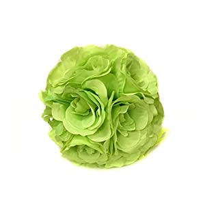 Ben Collection 10 Pack of Fabric Artificial Flowers Silk Rose Pomander Wedding Party Home Decoration Kissing Ball Trendy Color Simulation Flower 35