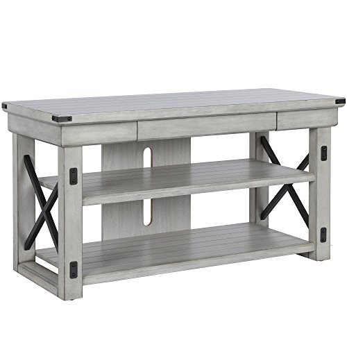 Ameriwood Home 1735296COM Wildwood TV Stand, Rustic White (White 50 Tv)
