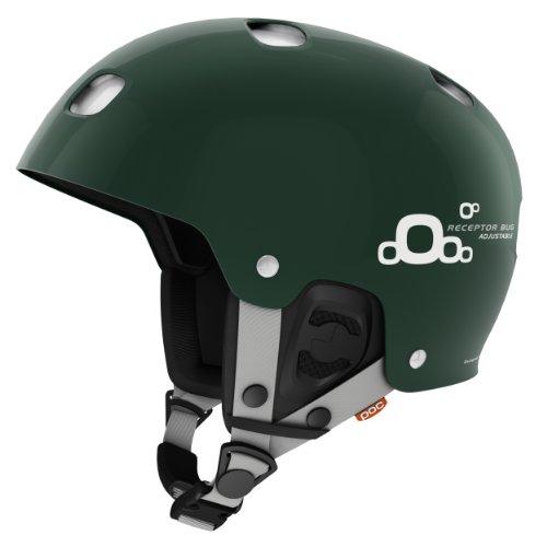 2 Receptor - POC Helmets and Armor Receptor BUG Adjustable 2.0 Ski Helmet, Malachite Green, X-Small/Small - 51-54