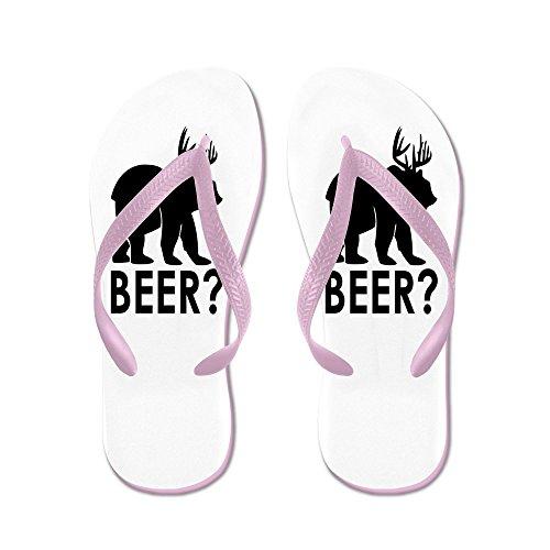 truly Teague Hombres Deer Plus Bear Es Igual A Cerveza! Sandalias De Goma Sandalias Rosa