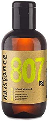 Naissance Vitamin E Oil 3.4 fl. oz/100ml - Pure, Natural, Vegan, Cruelty Free, Hexane Free, No GMO - Ideal for Aromatherapy, Skincare, Haircare, Nailcare and DIY Beauty Recipes