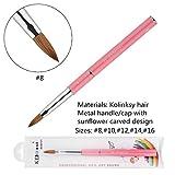 KEMEISI Kolinksy Nail Brush Sunflower Pink Handle