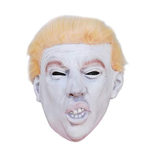 Aqkilo Human face mask Latex Animal Head mask Halloween Party Costume(Donald Trump Celebrity) -