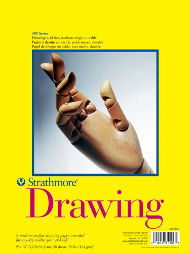 Strathmore Artist Papers 300 Series Drawing Paper Pad (45, 7 x 61 cm o 457 mm x 610 mm) 340-318